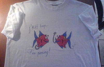 1819-    T-shirt  (poissons, humour)     Fr.  70.--    autres motifs sur demande