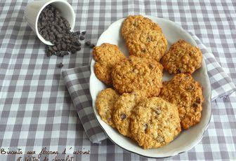 Biscuits aux flocons d'avoine et pépites de chocolat pour la 32ème ronde interblog