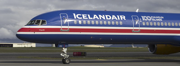 Icelandair flies the national flag in the skies to celebrate 100 years of Icelandic sovereignty