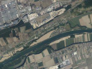 Comparaison des vues aériennes des années 1950 et de 2018 grâce à des captures d'écrans du site Géoportail.