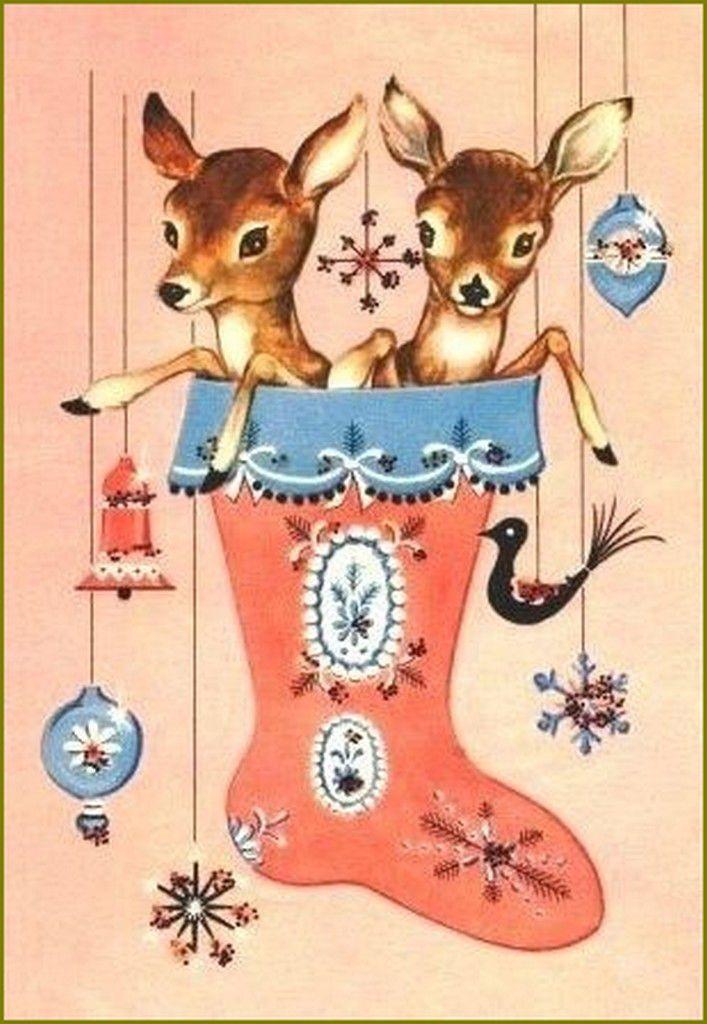 cerfs, biches, faons, chevreuils en peinture et illustrations