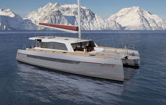 Lancement de la production du premier catamaran Explocat 52 chez Garcia Yachts