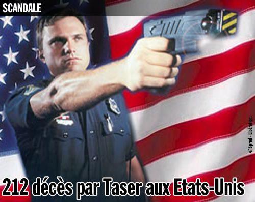 212 décès par Taser aux Etats-Unis.