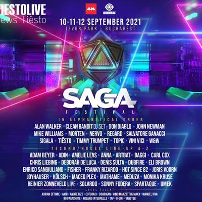 Tiësto date | SAGA Festival | Bucharest, Romania - september 10/11/12, 2021