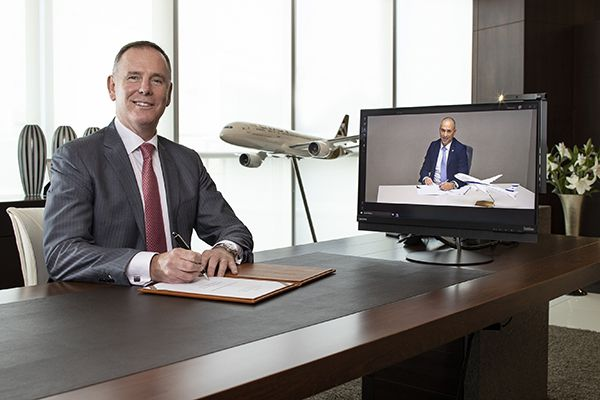Tony Douglas, Etihad Aviation Group GCEO and Gonen Usishkin, EL AL Airlines aerobernie