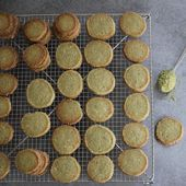 Biscuits diamants au thé matcha sans gluten - Izakitchen