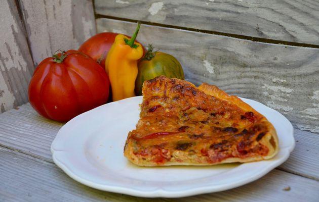 Tarte tomates poivrons