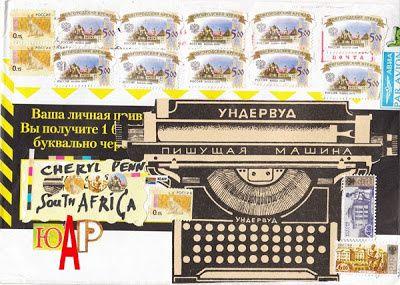 Mail Art , Poésie visuelle et sonore...tout un univers poétique -  PASCAL LENOIR, JOHN M. BENNETT& CHERYL PENN...