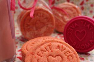Biscuits rose pour octobre rose