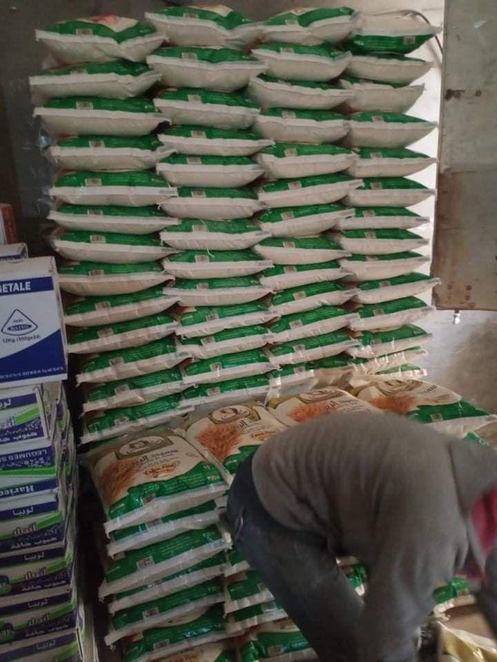 On à reçu la semoule pour les colis alimentaire pour Ramadan 2021