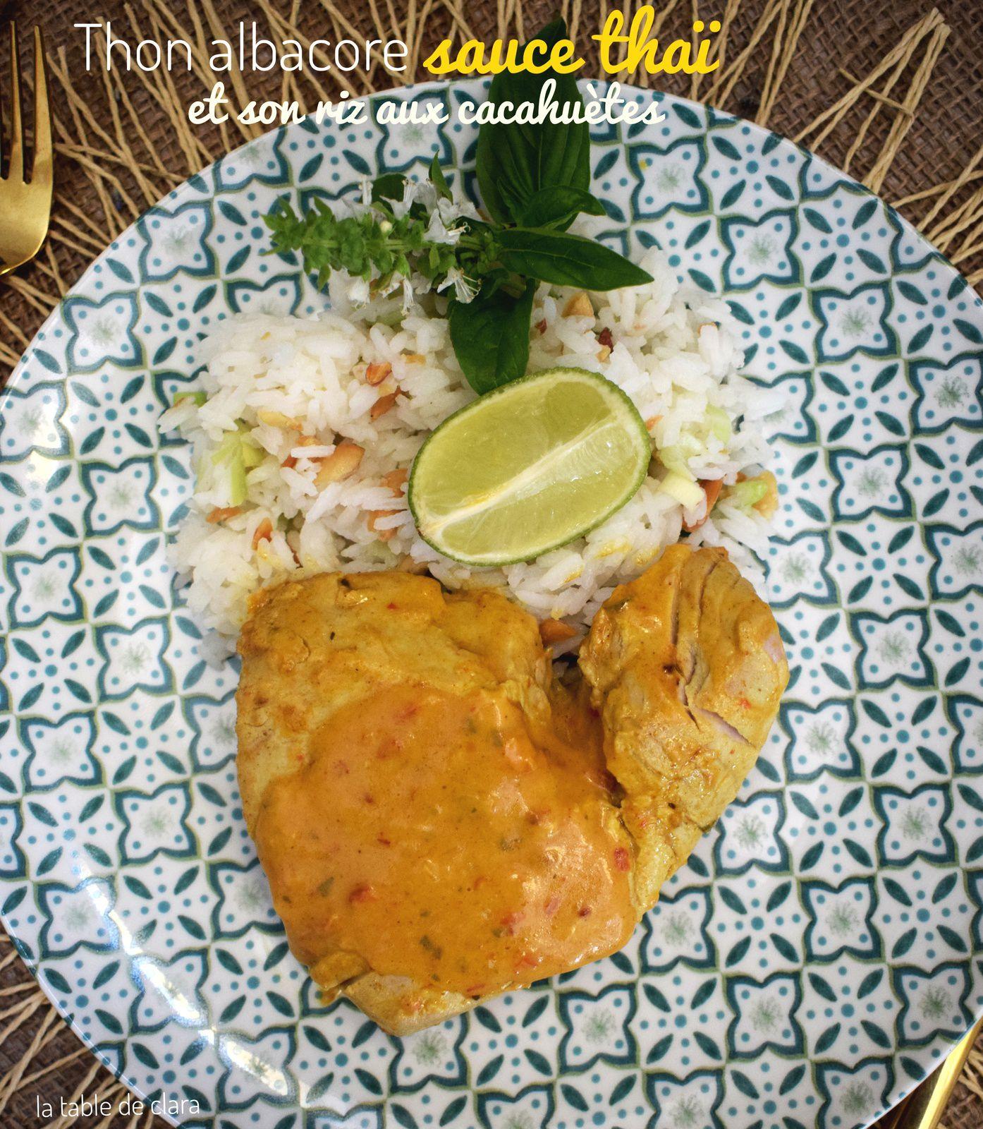 Thon albacore sauce thaï et son riz aux cacahuètes