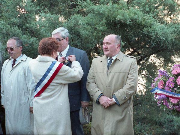Commémoration du 11 novembre à Algrange en 1993