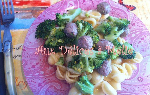 Orecchiette brocoli-saucisse