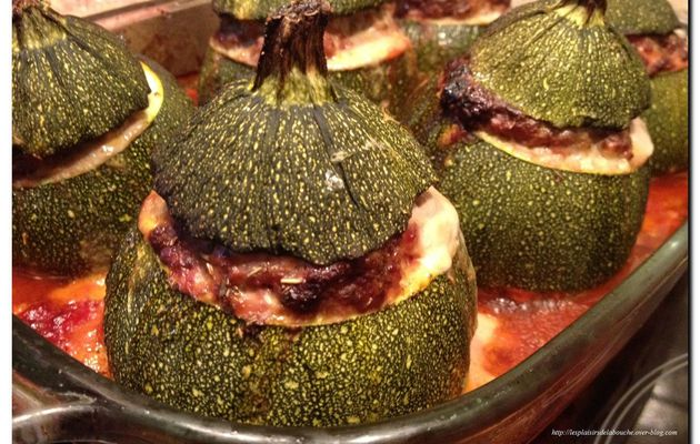 Courgettes ronde farcies