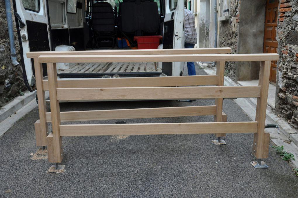 """Les barrières style """"Quéribus"""" sortent de l'atelier (2 photos)"""