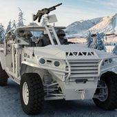 Spécialiste du matériel d'élévation, le français Haulotte présente une nouvelle gamme de véhicules militaires tactiques