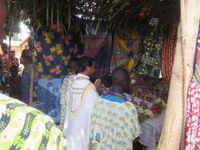 Procession Eucharistique à Tindjassi, nord du Togo, le dimanche du Christ Roi de l'Univers