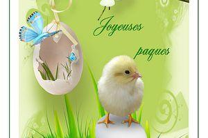 Carte Joyeuses Pâques à imprimer