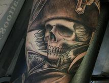 Napoléon crâne tattoo
