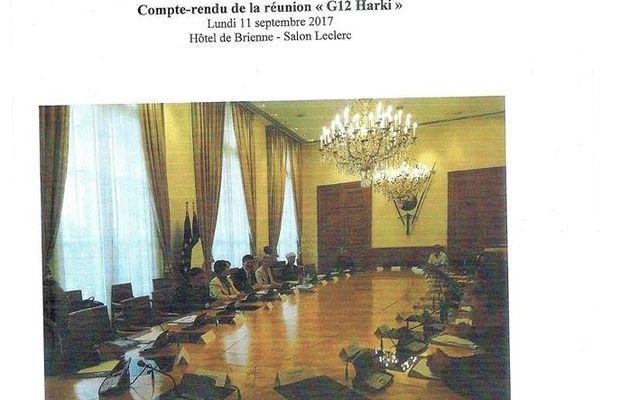 Compte-rendu de la réunion du G12 Harki du lundi 11 Septembre 2017 Hôtel de Brienne- Salon Leclerc
