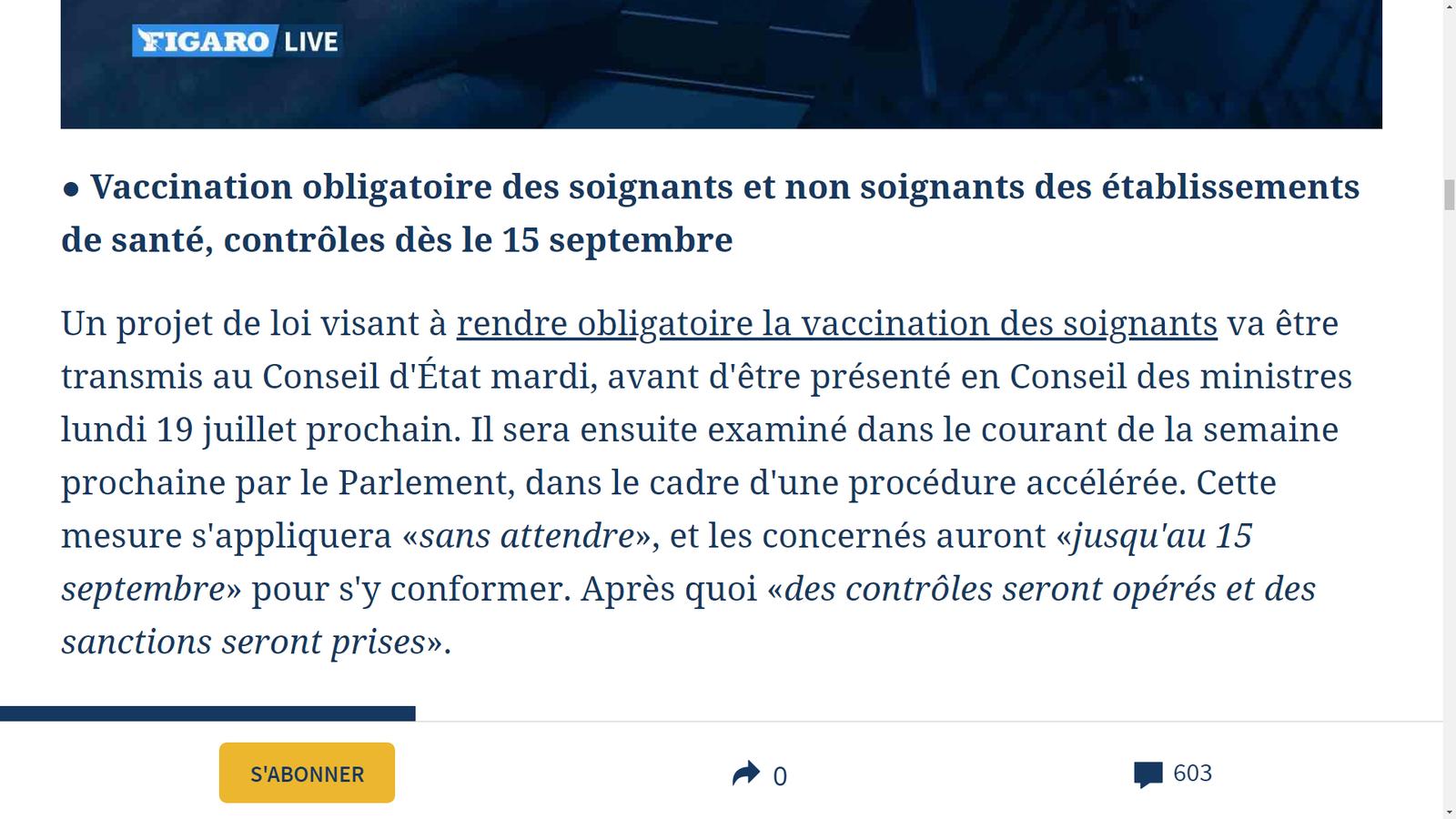 Source: https://www.lefigaro.fr/politique/covid-19-variant-delta-pass-sanitaire-vaccination-des-soignants-ce-qu-il-faut-retenir-des-annonces-de-macron-20210712