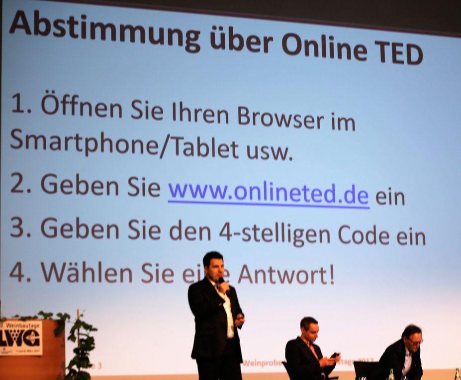 Außergewöhnliche Lehrweinprobe der LWG interaktiv mit Online-TED-Abstimmung und sehr edlen Tropfen