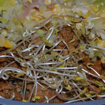 En version avec des graines germées d'épeautre, germées maison bien sûr.