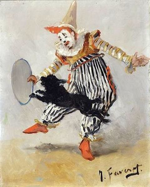 Numéro de clowns avec échasses (190?)