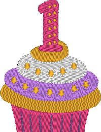Cupcakes, le chiffre 1