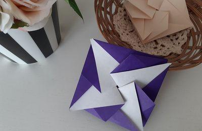 Origami : pochette bicolore