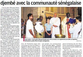 UNE CELEBRATION AU RYTHME FESTIF DU DJEMBE AVEC LA COMMUNAUTE SENEGALAISE