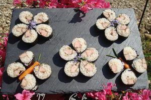 Makis d'aiguillettes de canard au vinaigre balsamique