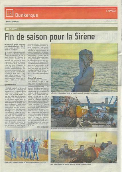 La Sirène et le baliseur Hauts de France-Dunkerque 2014