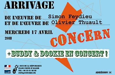 Les œuvres de Simon Feydieu et Olivier Thuault au cONcErn