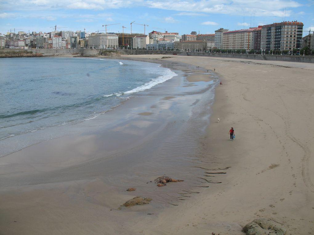 Magnifiques plages de Riazor (à quelques mètres du stade de football du même nom) et de Orzan... Où comment allier l'utile à l'agréable avec ces 2 plages situées à quelques mètres du centre ville !