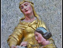 Echandelys (63) - sculpture dans l'église ...