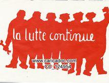 Anonyme, «La lutte continue», affiche, 1968.