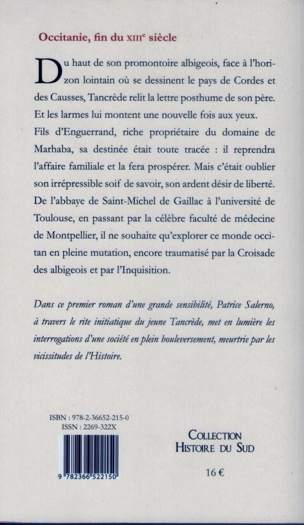 """Extrait du livre """" L'Hétitier d'Occitanie """" de l'Auteur Patrice Salerno"""