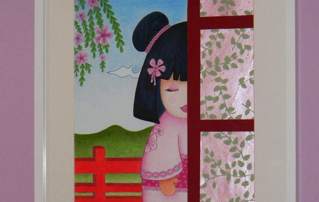 Tableau Petite kokeshi