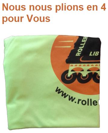 Roller Lib, Nimes sport, plein air, activité extérieure, t-shirt,