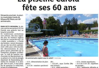 60 ans de la piscine Carola