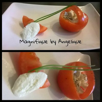 Tomate mozarella revisitée