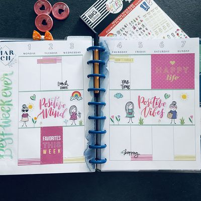 Plan with Me: Classic happy planner_ Semaine 9 et 10