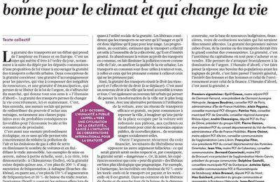 La gratuité des transports, une mesure bonne pour le climat et qui change la vie