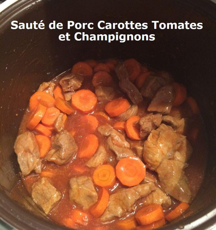 Sauté de Porc Carottes Tomates et Champignons