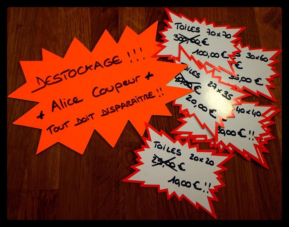 MEGA DESTOCKAGE - Toiles Signées Alice Coupeur !