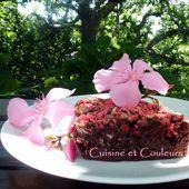 Fondant au chocolat/fraises/pralines roses de Laurence Salomon - Cuisine et Couleurs