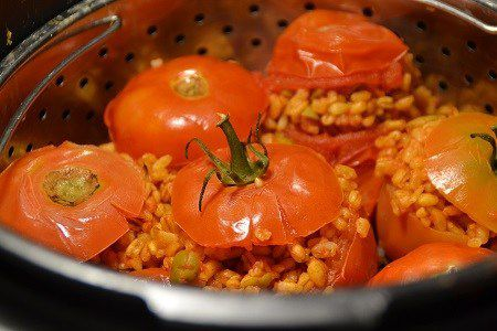 Tomates farcies blé olives cookeo