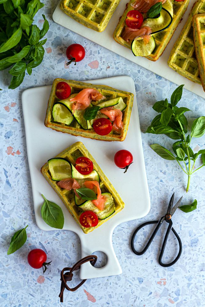 gaufre courgette four
