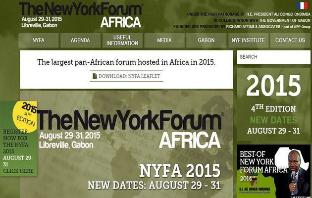 Le New York Forum Africa 2015 du 29 au 31 août
